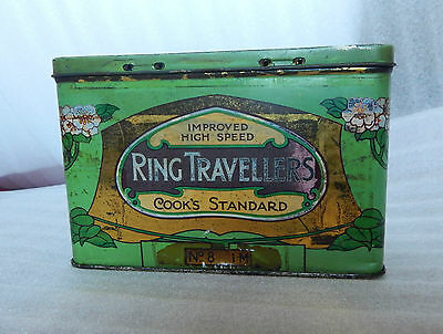 Art Nouveau Cook and Co Ring Travellers tin Manchester Social History 15x10x7cm