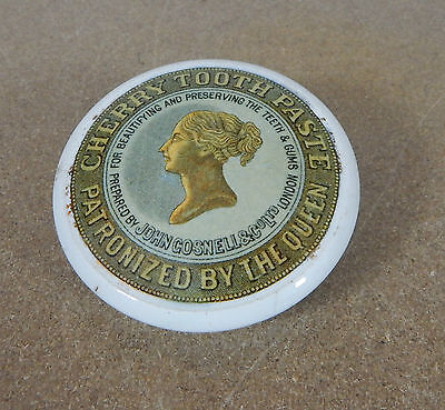 John Gosnell &Co Cherry Tootpaste Patronized By The Queen Victoria young head
