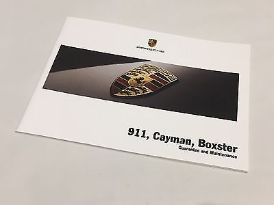 Porsche 997 Carrera Turbo Cayman Boxster 2007 Service Guarantee Maintenance Book
