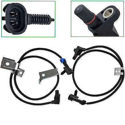 2Pcs Front Left & Right ABS Wheel Speed Sensor For Chevrolet Avalanche 1500 2500