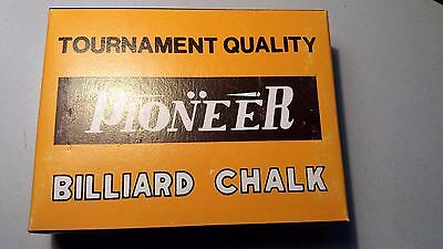 Pool Snooker Billiards Cue Chalk 12 Pieces Green New Old Stock