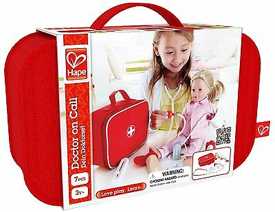 Hape Doctor On Call - Kids Wooden Doctors Kit Pretend Play Toy Set