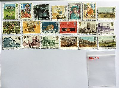 UK used stamps x19