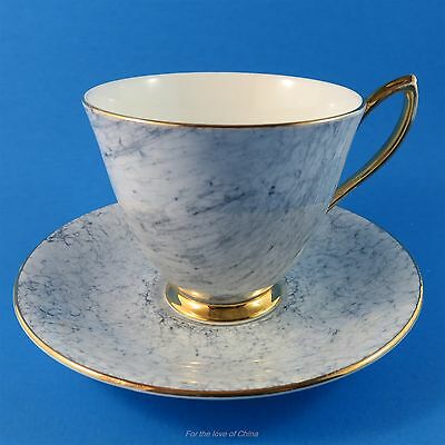 Royal Albert Art Deco Gray Gossamer Tea Cup and Saucer Set