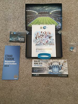 Manchester City Season Ticket Pack 2015/16 Football Book Badge