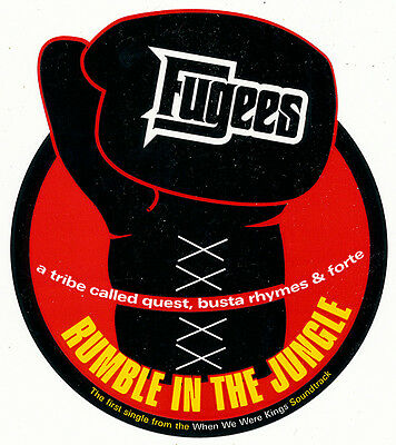 Fugees Rumble In The Jungle RARE promo sticker '97