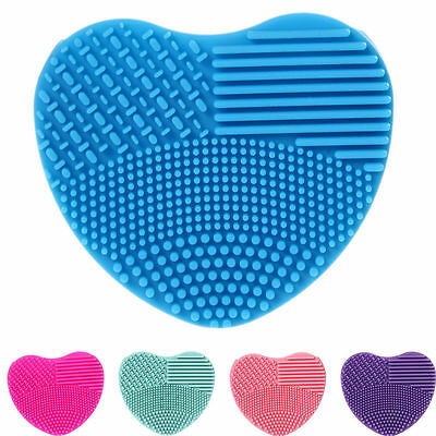 Heart Shape Silicone Fashion Cleaning Glove MakeUp Washing Brush Scrubber Board