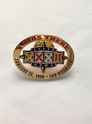 Super Bowl XXXII San Diego 1998 I Was There pin