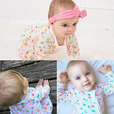 Baby Girl Boy Long Sleeve Polka Dot Romper Bodysuit Jumpsuit Outfits Clothes