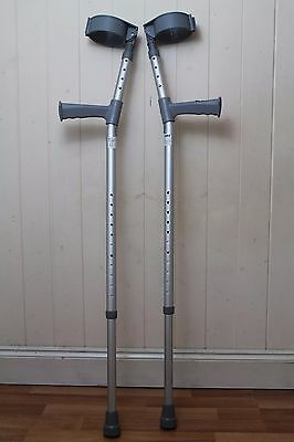 Coopers Adjustable Crutches Pair - 180KG Max - Excellent Condition
