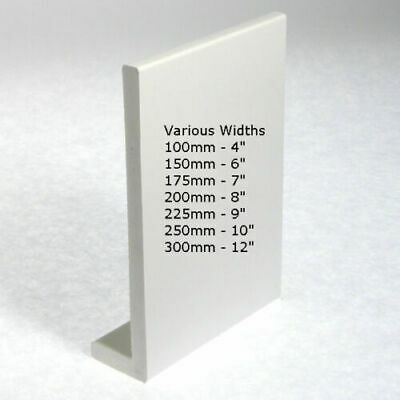 UPVC PLASTIC FASCIA COVER CAPPING BOARD WINDOW CILL SILL VARIOUS WIDTHS 1 X 2.5m