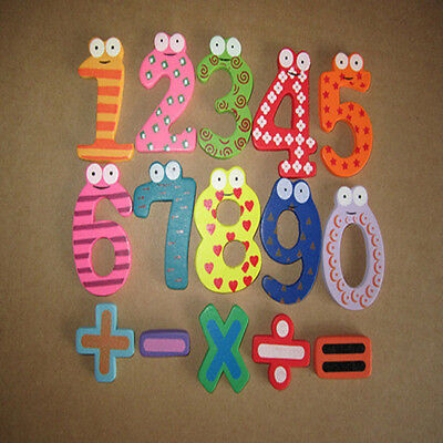 0-9 Numbers Magnetic Wooden Fridge magnets Math Digital Baby Educational Toy Y1