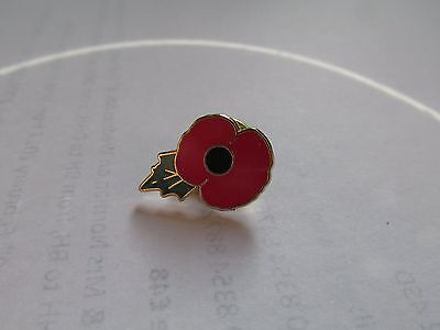 Royal British Legion Charity  Enamel Poppy Pin Badge