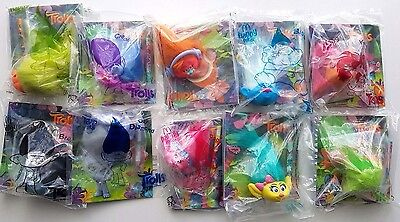 Complete Set Of 10 Mcdonalds Dreamworks Troll Characters Brand New In Bags