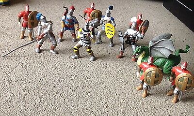 ELC Knights And Dragon Mythical Set - Like Papo, Schleich
