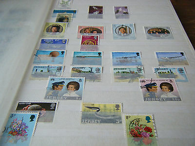 30 Page  Stamp Stockbook  With  450 +  Jersey  Stamps   -  Many Sets