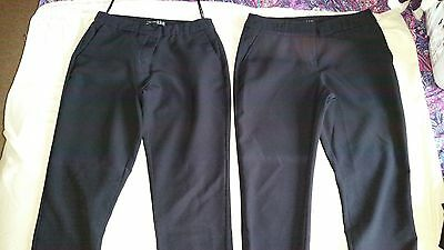 Girls Black School Trousers Size 8 (2 pairs)
