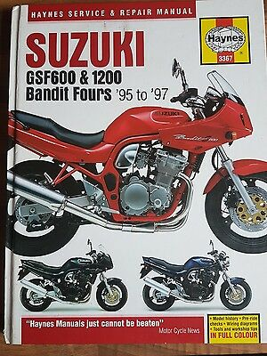 Haynes manual Suzuki GSF600 and GSF1200 Bandit Fours '95 to '97