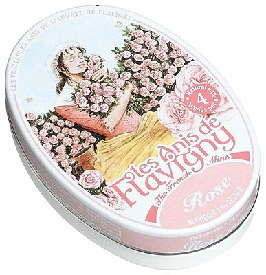 Les Anis De Flavigny Rose Mints 1.75 Ounce Tin