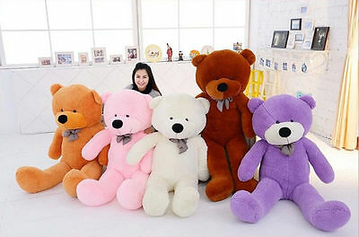 120CM SIZE STUFFED ANIMAL TEDDY BEAR PLUSH SOFT TOY PILLOW CUTE GIFT 47in