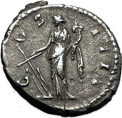 ANTONINUS PIUS 148AD Rome Authentic Ancient Silver Roman Coin Fortuna i59221