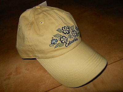22 Piece Wholesale Resale COLUMBIA Womens Ball Cap Hat FLOWERS Gold ONE SIZE