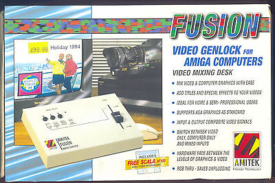 Fusion   Video Genlock For Amiga Computers Video Mixing Desk See Details
