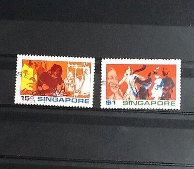 Singapore Used 1972 Youth Stamps SG182 & 184