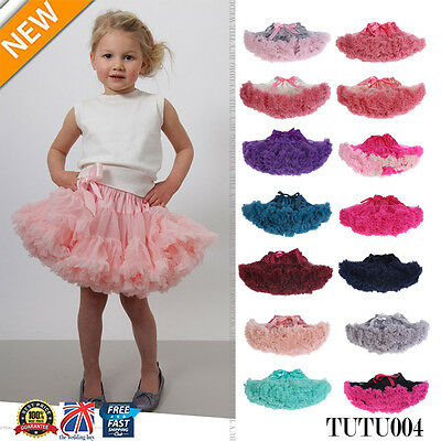 Girl Kids Lavender Pettiskirt  Tutu Fluffy Skirt Dance Party 2-9 Years TUTU004