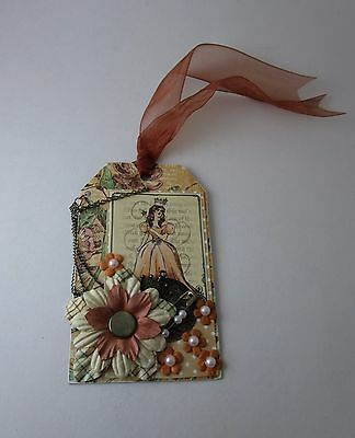 Fairy Godmother Handmade Pink Tag Gift Card Holder