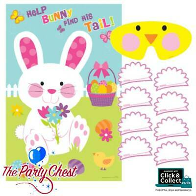 PIN THE TAIL ON THE EASTER BUNNY GAME Childrens Easter Fun Party Activity 271051