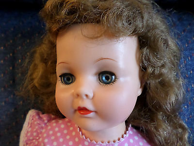 "VP-19 -2  Ideal Baby Doll 1950s HoneyBunch 19"" 1950s  Sleep Eyes Original Dress"