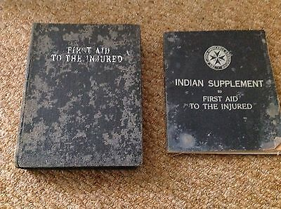 Vintage St John's Ambulance Ist Aid books. Indian Division.