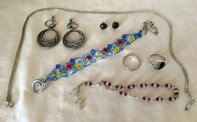 Lot: Sterling Silver Jewelry 925: Usable, Scrap, Recovery - 38.8 Grams