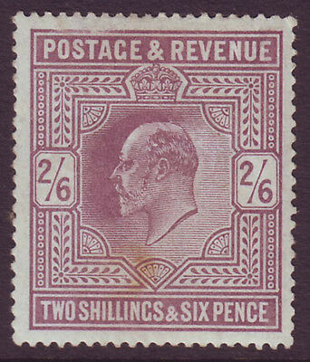 GREAT BRITAIN -  EDWARD VII 1902 KEVII 2s 6d lilac unused no - 21246
