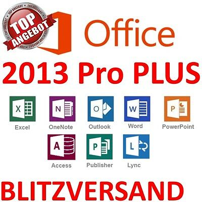 MS Microsoft Office 2013 Professional Plus • Vollversion Original Business • Pro