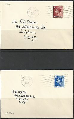 GREAT BRITAIN -  EDWARD VIII 1936 KEVIII two first day covers with - 22397