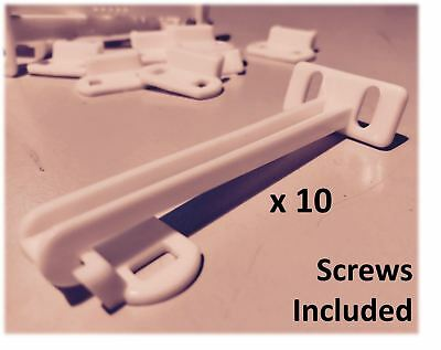 10 x Child Safety Catch Child Lock Cupboard Door Drawer Catches Inc Screws
