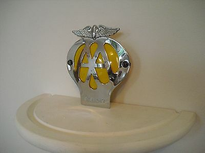 1950/60s, AA, Car Grill Badge. Exellent Condition,morris, austin,mini,ford,