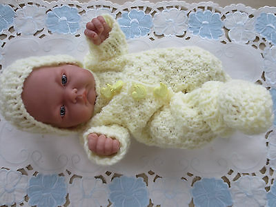 """Hand Knitted 10"""" Reborn baby Doll Set"""