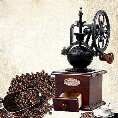 Wooden Coffee Bean Manual Grinder Vintage Old Style Hand Grinder Coffee Mill New