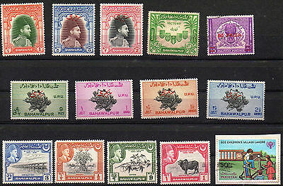 Pakistan Bahawalapur Selection Of Stamps As Scanned