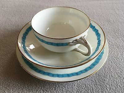 Unusual vintage Minton cup, saucer and plate