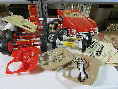 Grab Bag of Parts and as is red 1955 Corvette