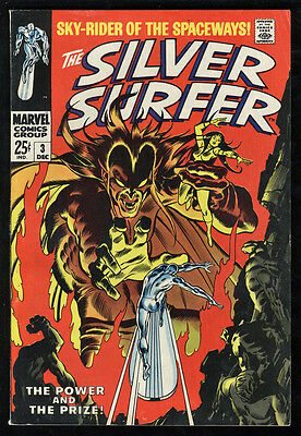 Silver Surfer #3 VG+ OW Pages 1st Mephisto