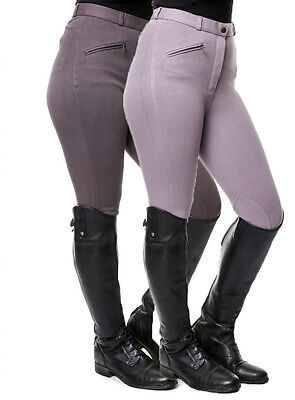 "Grey ladies/womens horse riding breeches 32"" waist size 12"