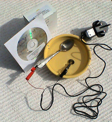 Coin Cleaning by Electrolysis Kit - The Ultimate Kit + 3 - CDROMS + Coin Keyring