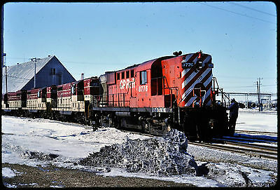 529 Kodachrome Slide Canadian Pacific CP RS18#8776 & TH&B GP7 #73, 77, 76 Action