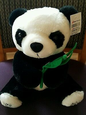 Nuance Watson Plush Panda with Bamboo Stuffed Animal Toy NWT