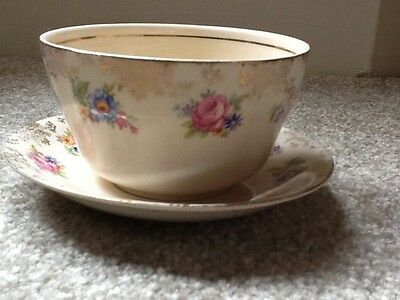 H & K Tunstall antique bowl and saucer
